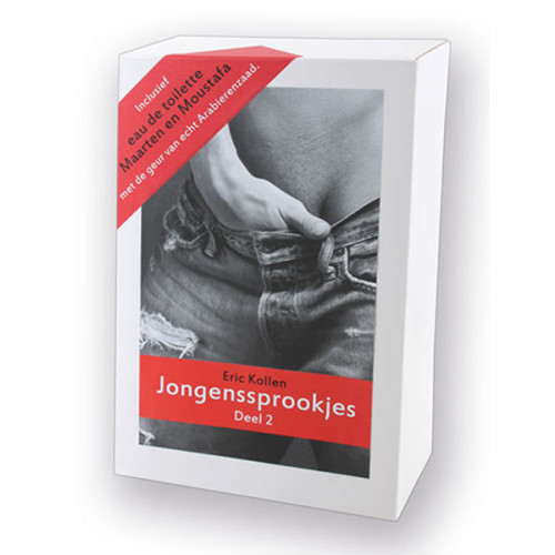 Cadeauverpakking Paperback Jongenssprookjes Deel 2 plus Eau de toilette Maarten en Moustafa